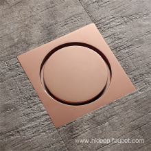 Rose Gold Square Bathroom Floor Drain